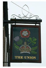 Pub sign at the Union Hotel