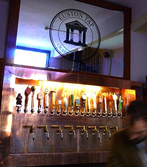 Euston Tap, back bar
