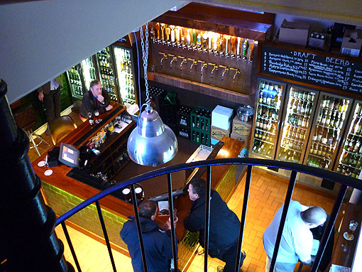 Euston Tap, looking downstairs