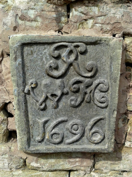 Foundation stone at the Heavygate dated 1696