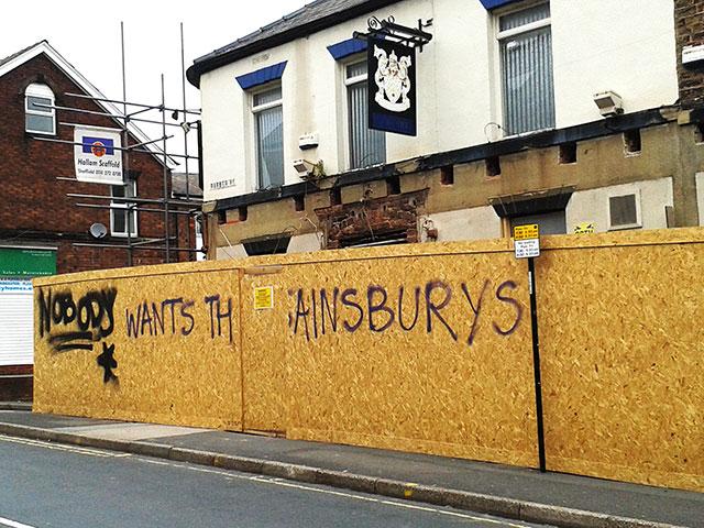 graffiti: NOBODY WANTS THIS SAINSBURY'S